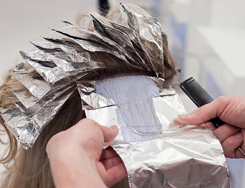 استفاده از فویل آلومینیوم برای مو